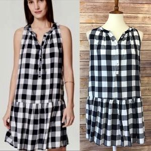 Ann Taylor Loft Sleeveless Plaid Tunic Dress Sz S